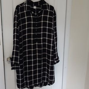 Old navy Plaid shirt dress. XL